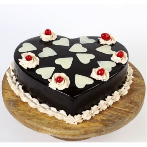 Chocolaty Hearts Cake