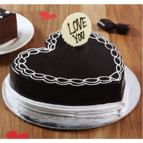 Classic Heart Shaped Chocolate Cake