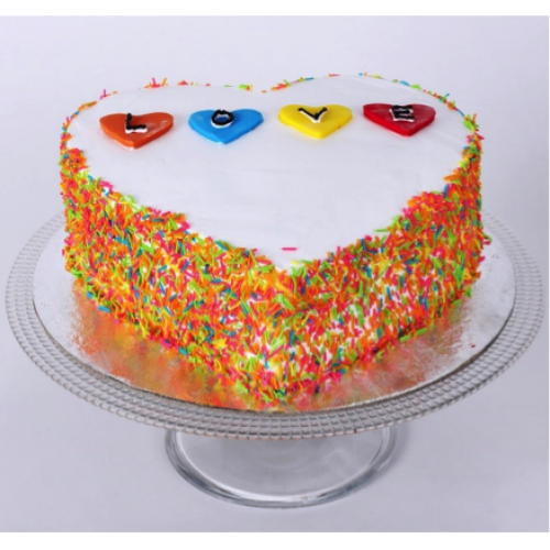 Colourful Love cake
