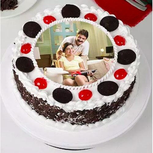 Fathers Day Black Forest Photo cake