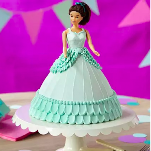 Green Barbie Cake
