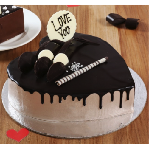 Heart Shaped Chocolate Cream Cake