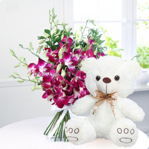 Orchid Teddy Combo