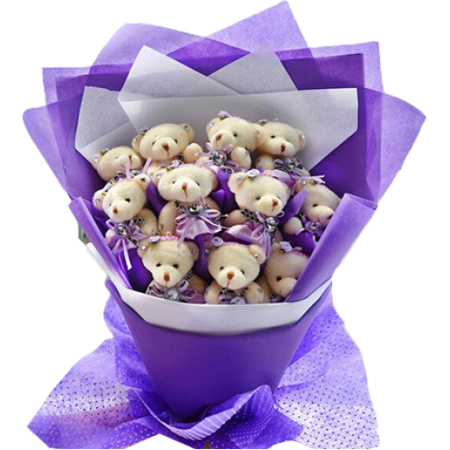 Purple teddy Bouquet