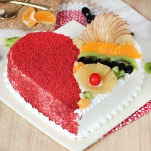 Red Velvet Fruity Cake