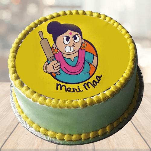 Meri Maa Butterscoth Photo Cake