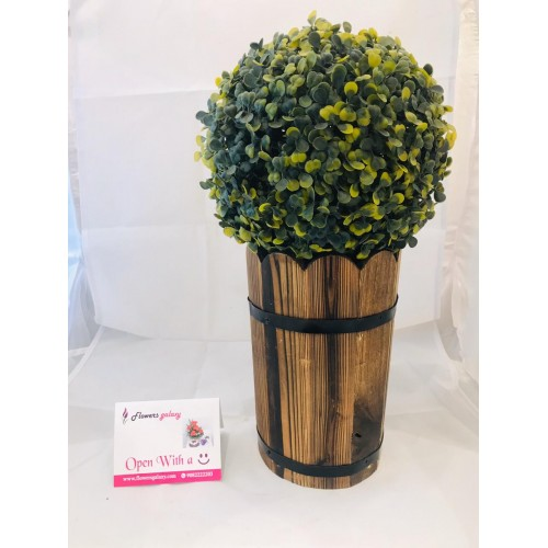 Artificial Plant in wooden pot(2-3 Delivery Days)