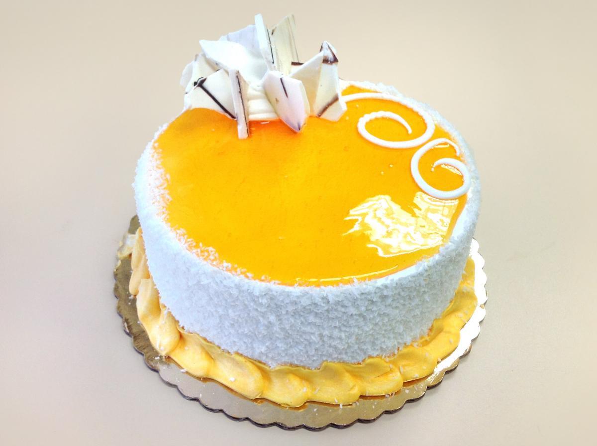Yummy mango cake