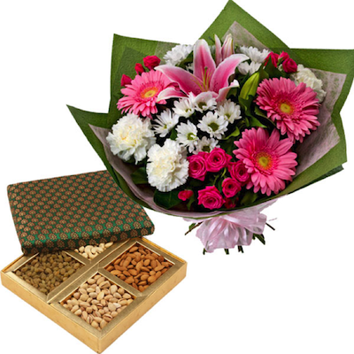 Mix Flowers and Dry Fruits