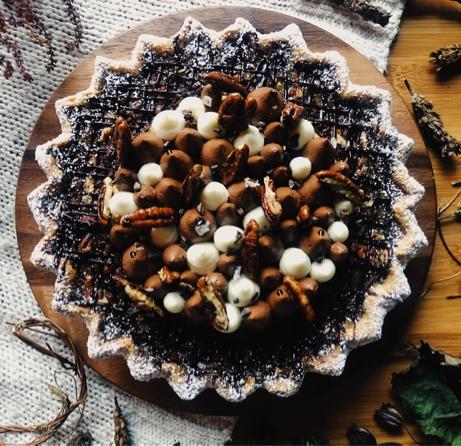 Pecan Pie Truffle Cake